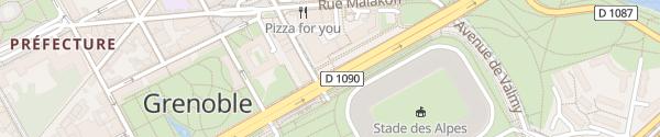 Karte Stade des Alpes Grenoble