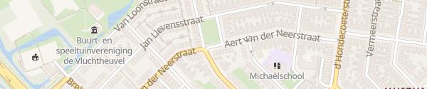 Karte Aert van der Neerstraat Leeuwarden