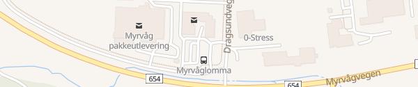 Karte Myrvåg Helsesenter Gurskøy