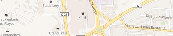 Karte Auchan La Seyne-sur-Mer