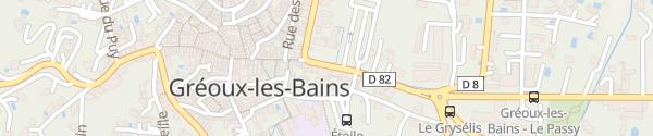 Karte Hôtel des Colonnes Gréoux-les-Bains