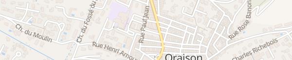 Karte Mairie Oraison