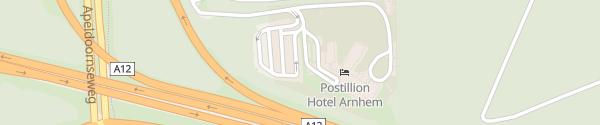 Karte Hotel Postillion Arnhem