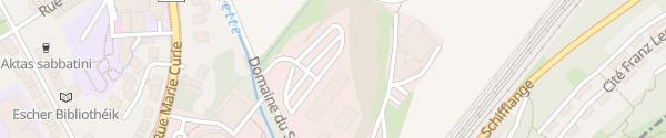 Karte Schnellladesäule Enovos Esch-sur-Alzette