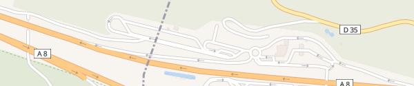 Karte Supercharger Aire de Cambarette Nord Brignoles