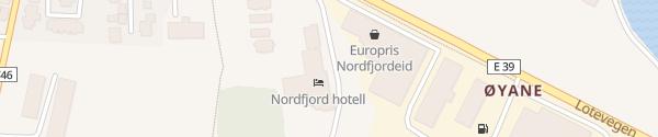 Karte Scandic Nordfjord Nordfjordeid