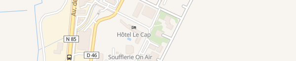 Karte Inter-Hôtel Le Cap Tallard