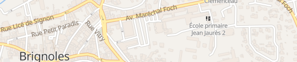 Karte Square Charles de Gaulle Brignoles