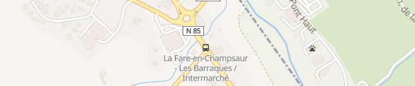 Karte Route de Grenoble La Fare-en-Champsaur
