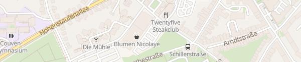 Karte EDEKA Hatlé / Aldi Aachen