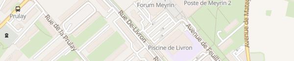 Karte Meyrin Centre Meyrin