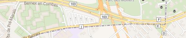 Karte Parkplatz Rue de Bernex Bernex
