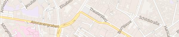 Karte Theaterplatz Aachen