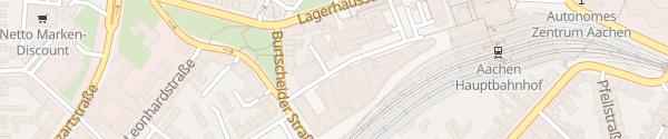 Karte Hauptbahnhof Aachen