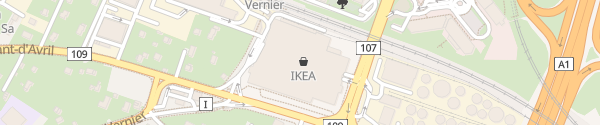 Karte IKEA Vernier