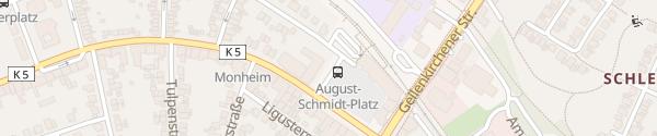 Karte August-Schmidt-Platz Herzogenrath