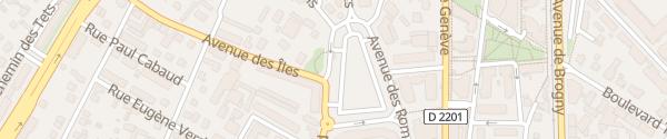 Karte Place des Romains Annecy