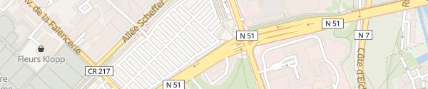 Karte Parking du Glacis Luxembourg