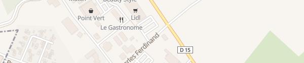 Karte Lidl Hettange-Grande