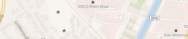 Karte Solar-Tankstelle Kleve