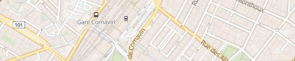 Karte Parking de la Place de Cornavin Genève