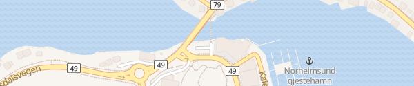 Karte Straumen Norheimsund
