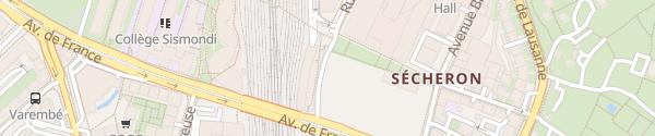 Karte Park & Ride Sécheron Genève