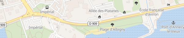 Karte Avenue du Petit Port Annecy-le-Vieux