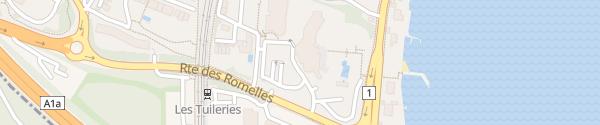 Karte Hôtel la Réserve Bellevue