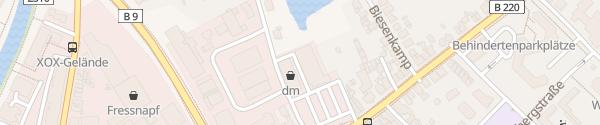 Karte ALDI Süd Emmericher Straße Kleve