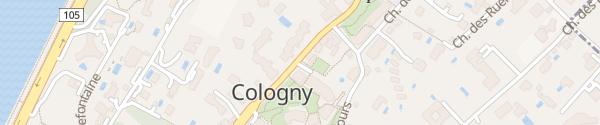 Karte Parkhaus de la Forge Cologny