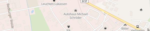 Karte Hyundai Autohaus Schröder Hasselt