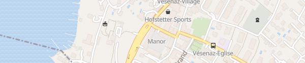 Karte Manor Vésenaz