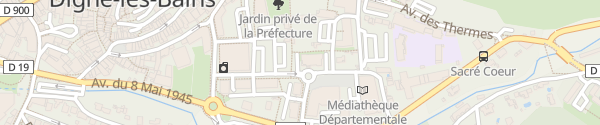 Karte Centre Médico-Social Digne-les-Bains