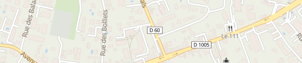 Karte Avenue du Bas Chablais Douvaine