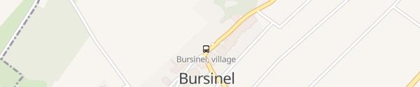 Karte Parking communal Bursinel