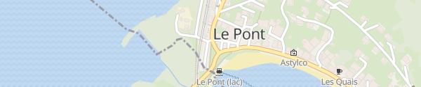 Karte Parking de la Gare Le Pont