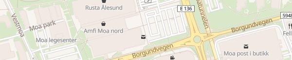 Karte Amfi Moa Nord Ålesund