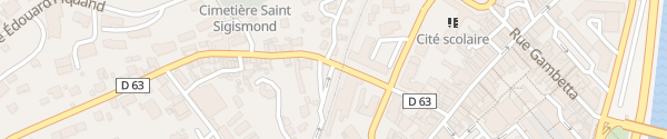 Karte Rue Claude Genoux Albertville