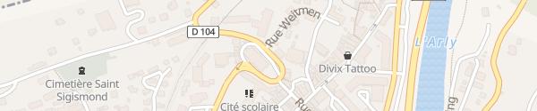 Karte Place de l'Église Albertville
