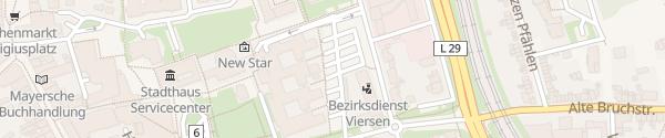 Karte Kreisverwaltung Viersen
