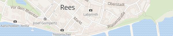 Karte Rathaus Rees