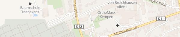 Karte Kindertagesstätte Mullewapp Kempen