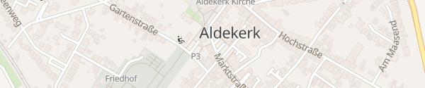 Karte Marktplatz Aldekerk