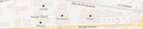 Karte Hornbach Etoy