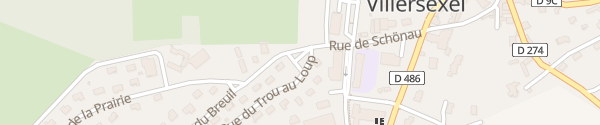 Karte Rue du Trou au Loup Villersexel
