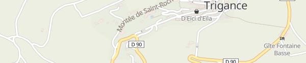 Karte Montée de Saint-Roch Trigance