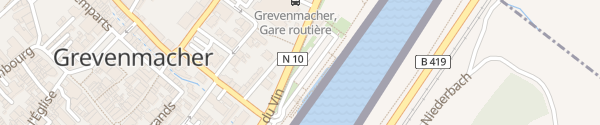 Karte Quai de la Moselle Grevenmacher