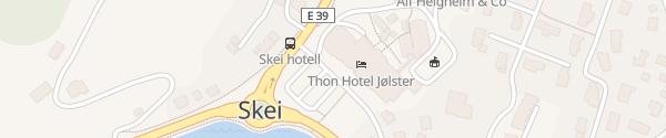 Karte Thon Hotel Jolster Skei