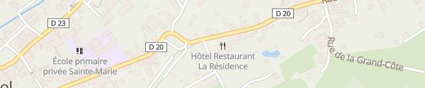 Karte Logis Hôtel la Résidence Le Val-d'Ajol